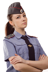 Russian woman police officer