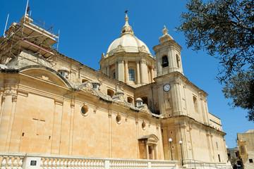 Catholic Church in Mgarr city. Gozo. Malta