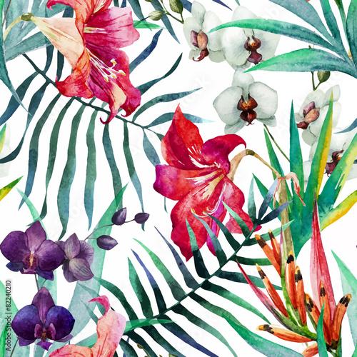 Stoffe zum Nähen Tropische Muster