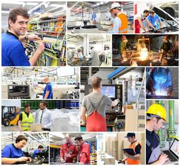 Berufe/ Arbeiter in der Industrie - Logistik - Handwerk