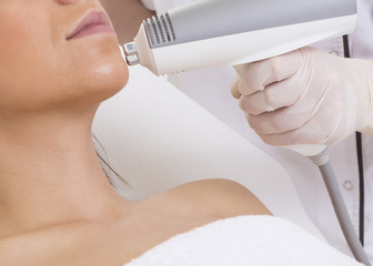 beauty treatment in a specialized clinic