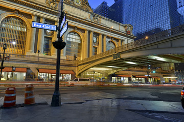 Grand Central Terminal, Manhattan New York showing fast paced mo