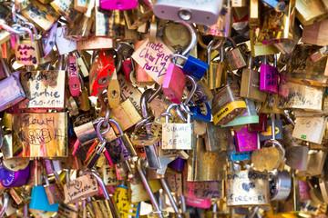 Love Padlocks at Pont de l'Archevche in Paris