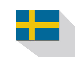 sweden long shadow flag