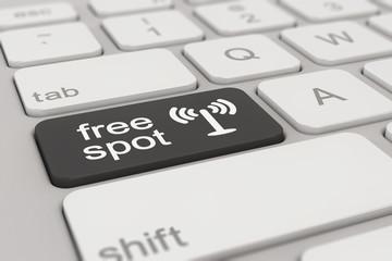 keyboard - free spot - black