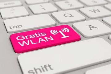 keyboard - Gratis WLAN - magenta