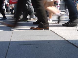 都市を歩く