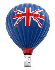 Hot Air Balloon with British Flag (clipping path included)