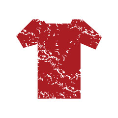 Red grunge tee shirt logo