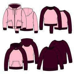 Girls hoodies.Color