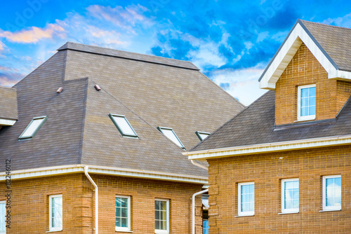 house with a gable roof window - 82246012