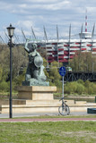 National Stadium and Statue of Mermaid in Warsaw, Poland - 82248442