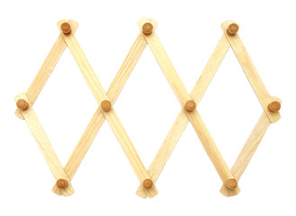 Wooden foldable diamond-shaped hanger