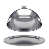 vassoio d'argento con coperchio - 82249695