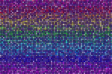 Random Rainbow Dots Pattern Seamless Background. EPS8 Vector