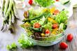 Leinwanddruck Bild - Fresh mixed salad with green asparagus for healthy snack
