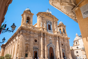 The mother church,  cathedral of Marsala, Trapani, Sicily