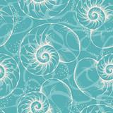 Fototapety Shell seamless pattern
