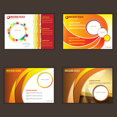 Set of presentation of business poster