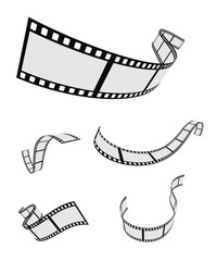 film roll strip tape curled set