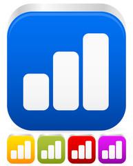 Growing bar-chart, bar-graph icon / graphics