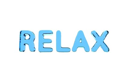 """Word """"RELAX"""""""