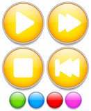 Multimedia buttons with play, fast-forward or backward, previous