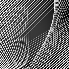 Intersecting lines,  Modern abstract grid, mesh with distortion.