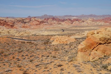 Valley of Fire landscape with a road.