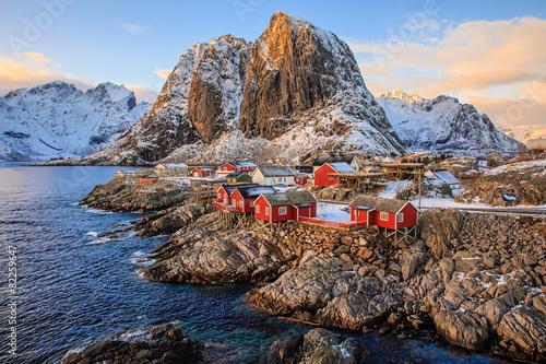 Poster Reine fishing village, Lofoten, Norway