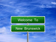 New Brunswick Welcome Sign