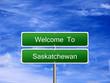 Saskatchewan Province Welcome Sign