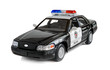 Model of the patrol car of police on a white background. - 82261249