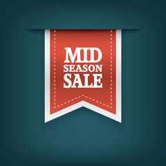 Mid season sale ribbon elements for online shopping and your