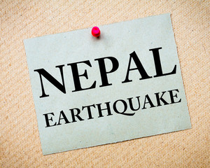 NEPAL EARTHQUAKE Note
