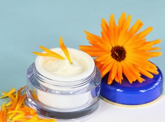 Face & body cream with marigold,  Calendula officinalis