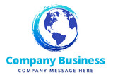 Swirl Global Company Business Logo Symbol