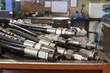 Leinwanddruck Bild - hydraulic hoses