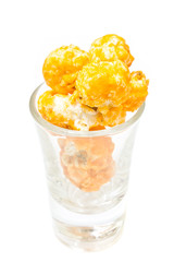 Popcorn Cheese in glass