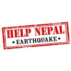 Help Nepal-stamp