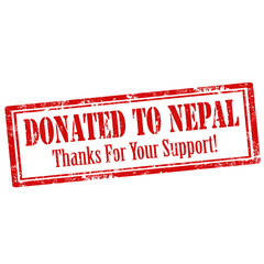 Donated To Nepal-stamp