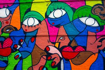 Abstract colourful graffiti body parts