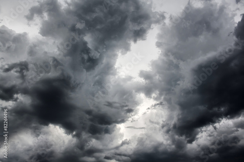 Dramatic Storm Clouds Background - 82264496