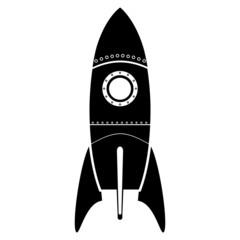Black Rocket icon. Vector