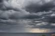 Leinwanddruck Bild - Dramatic Storm Clouds Rain