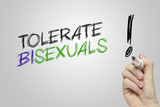 Hand writing tolerate bisexuals poster