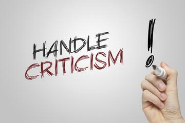 Hand writing handle criticism