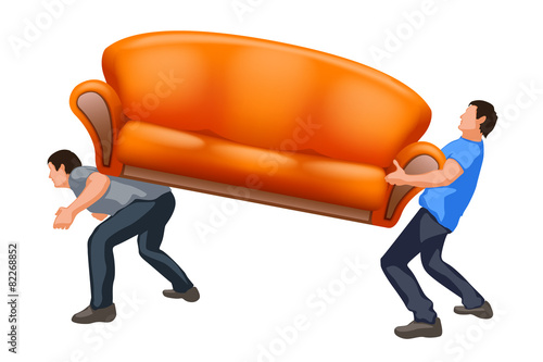 sofa8 carrying two guys - 82268852