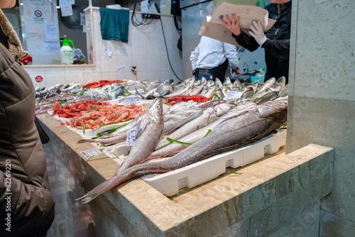 Keuken foto achterwand Boodschappen Sardegna, Cagliari, mercato del pesce di San Benedetto