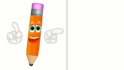 Funny pen pencil cartoon letter write sign memo note